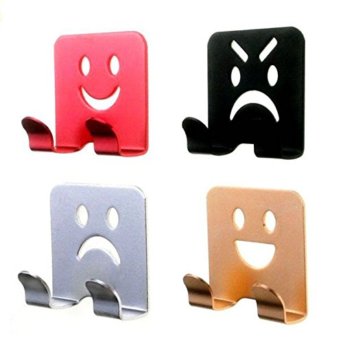 iRomic Wall Mount Adhesive Hooks Hanger(4Pack) Razor Plug Holder Bathroom Kitchen Home Organizer for Shower Robe Towel Loofah Bathrobe Coat Clothes Key,Aluminum
