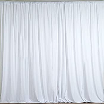 BalsaCircle 10 Feet X White Polyester Backdrop Drapes Curtains Panels