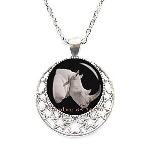 Yijianxhzao Rhino Necklace, Rhinoceros Necklace, Rhino Jewelry, Rhinoceros Jewelry, Rhino Pendant,Animal Jewelry,BV007 (V1)