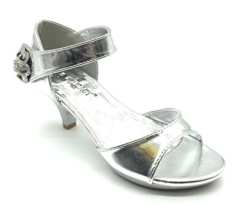 Delicacy Angel-62 Womens Strappy Rhinestone Dress Sandal Low Heel Shoes