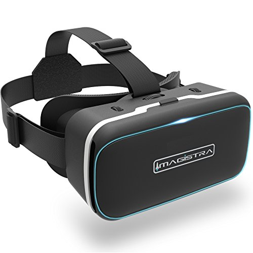 3D VR Headset for iPhone and Android - Universal 360 Virtual Reality Goggles with Blue Blocking Lenses, Touch Button, and Adjustable Strap to Fit Kids, Teens, and Adults - by Imagistra by Imagistra