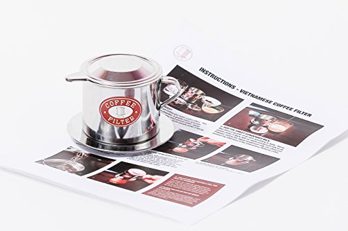 Vietnamese Coffee Filter. Size small to X-Large. 1 or 2 Pack (2, Medium (8 oz)) by Thang Long (Image #2)
