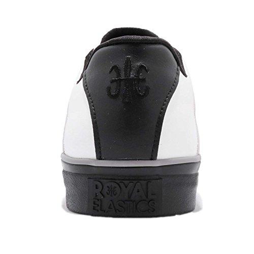 Royal Elastics Hombres Cruiser, Blanco / Negro Blanco / Negro