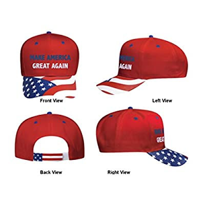 Embroidered USA FLAG Donald Trump Make America Great Again hat President Inauguration