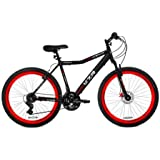 "26"" Men's Kent KZR Mountain Bike, Black/Red-Front disc and rear linear pull hand brakes"
