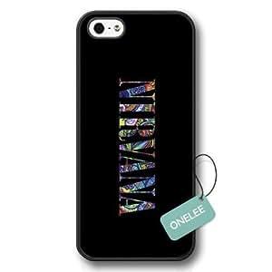 Onelee(TM) - Nirvana Rock Hard Plastic Iphone 5CCase & Cover - Nirvana Logo iPhone 5s Case - Black 4 hjbrhga1544