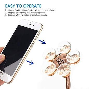 2 Pack Universal Car Sucker Cellphone Holder,360 Degree Rotating Flower Shape Car Home Magic Suction GPS Phone Holder Stand Rose Home Use
