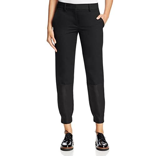 DKNY Rich Womens Cropped Wool Ankle Jogger Pants Black 12