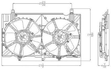 Radiator Cooling Fan For 2007-2009 Nissan 350Z