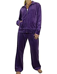 ICE (6475-1) Plus Size Fuller Figure Curvy Womens Luxury Velour Tracksuit