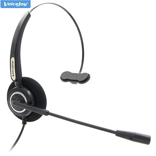 Office Headset with Microphone to RJ9/RJ10 Plug ONLY For CISCO IP Phones, Such as 794X 797X 6921 88XX 99XX (Rj10 Plug)
