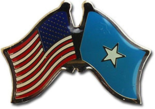 ALBATROS Pack of 50 USA American Somalia Flag Hat Cap Lapel Pin for Home and Parades, Official Party, All Weather Indoors Outdoors