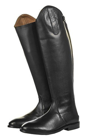 Bottes d'équitation en cuir Italie HKM Soft Cuir Noir Standard/courte 37-41 Noir 36