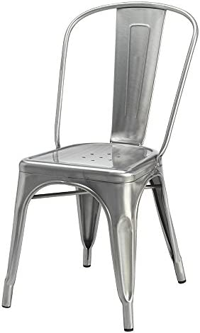 Modern Home Cassandra Contemporary Steel Stackable Tolix-Style Dining Chair