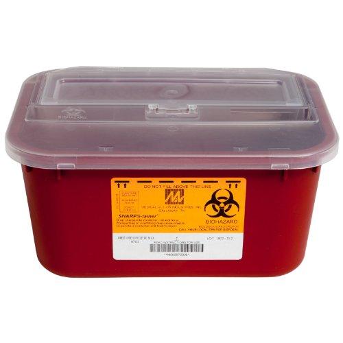 McKesson 2223 Plastic Sharps Container, 4 qt Capacity