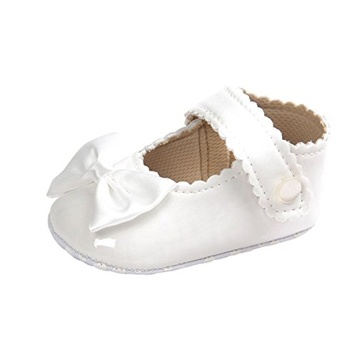 Weixinbuy Baby Girls PU Leather Princess Mary Jane Shoes Soft Sole Bowknot Shoes