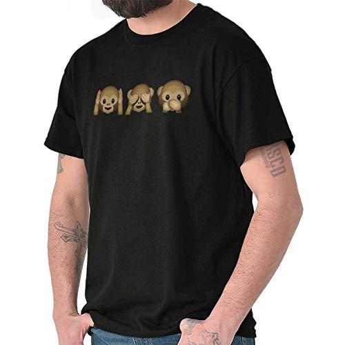 Monkey Hear No Evil Graphic Emoji Cute T Shirt Tee