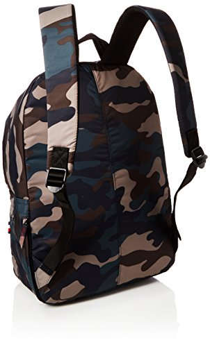 Tommy Hilfiger Light Nylon Backpack Camo Stripe - Zaini Uomo, Verde (Camo Stripe), 17x47x34 cm (B x H T)