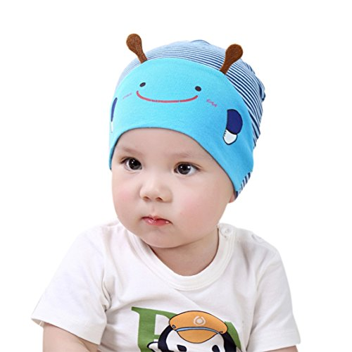 Tonsee Baby Kind Jungen Mädchen Biene Baskenmütze Baseball Mütze (blau)