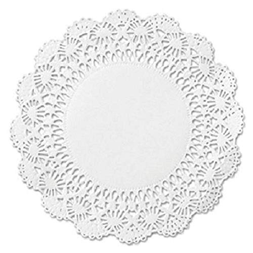 100 White Round Paper Lace Doilies - 4 inch - Perfect for embellishing packages, packaging baked goods, decorating