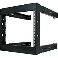 6U Open Wall Mount Frame Rack - Adjustable Depth 18-30