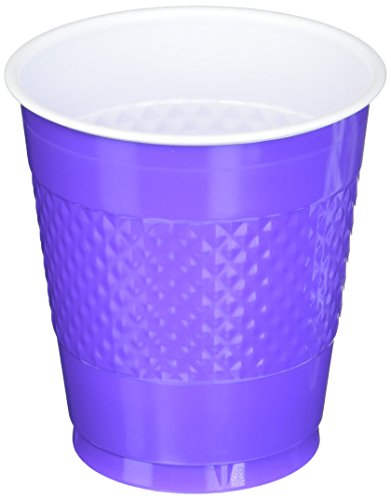 Amscan Party Ready Reusable Plastic Cups (20 Piece), Purple, 3.4 x 3.4