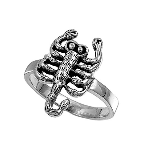 (Princess Kylie 925 Sterling Silver Scorpion King Ring Size 6)