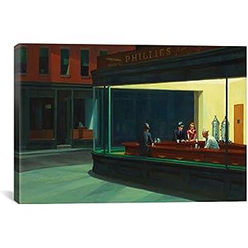 Canvas Champ Nighthawks Canvas Print by Edward Hopper, 24 by 36-Inch, 0.75-Inch Deep