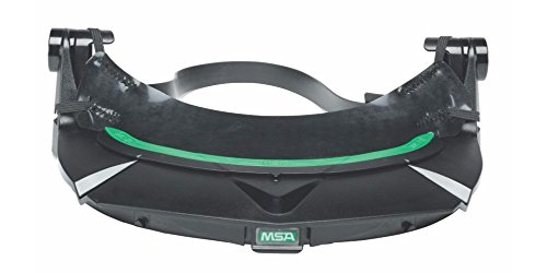 MSA (Mine Safety Appliances) 10115822 MSA Black V-Gard Universal Visor Frame with 3 Point Suspension and Debris Control for Use with Universal Hard Hats, Plastic, 1
