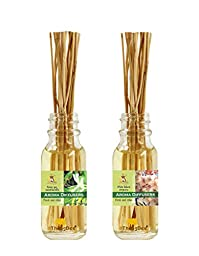ThongDee Honeysuckle and Sakura Floral Reed Diffuser Oils Aromatherapy Set 30ml.