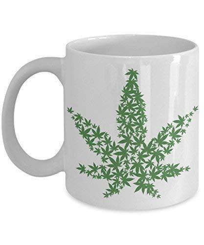 8e2c0f54604 Amazon.com: Marijuana Leaf Mug, Cannabis Weed Pothead Pot Themed ...