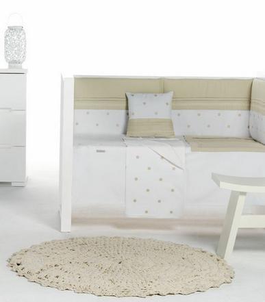 Bimbi Romantic–, circa 72x 142cm, weiß und Leinen