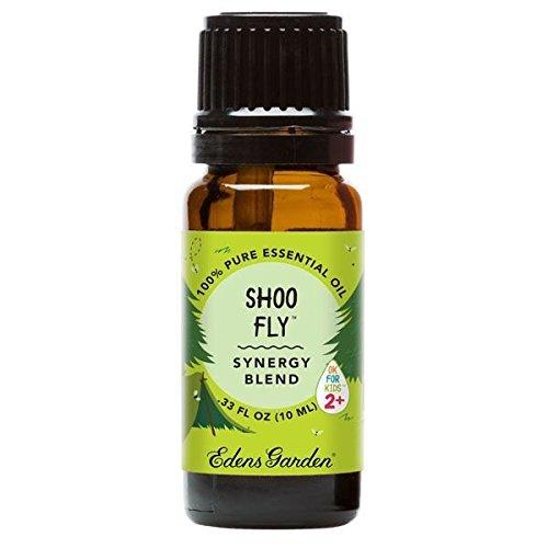 Edens Garden Shoo Fly Ok for Kids Synergy Blend Essential Oil, (Lemon Eucalyptus, Nootka Tree, Cedar wood, Catnip, Patchouli and Vanilla), 10 ml (1/3 oz) - Kid Catnip