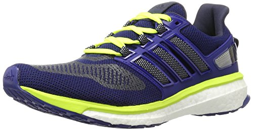 adidas Performance Men's Energy Boost 3 M Running Shoe, Unity Ink/White/Solar Yellow, 9 M US - 3 Plus Womens Running Shoes