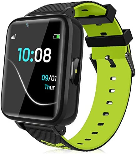 Kids Smartwatch for Boys Girls – Kids Smart Watch Phone Touch Screen with Calls Games Alarm Music Player Camera SOS Calculator Calendar Children Toys Birthday Gifts for 4-12 Years Students (Green)