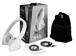 Monster DNA On-Ear Headphones, White/Grey