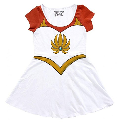 I Am She-Ra Princess Of Power Juniors White Costume Skater Dress | M (Shera Costumes)