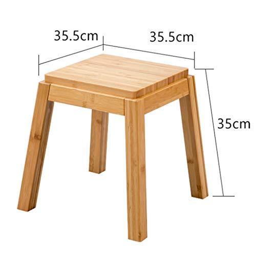 HOME Mesa de Comedor/Mesa de té/Set de sillas Mesa de té de bambú China/Oficina Mesa de Centro de Madera Kungfu,Taburete