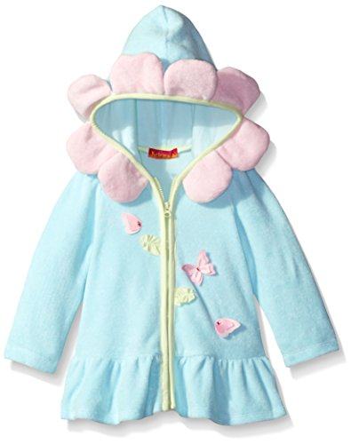 Kate Mack Baby Girls' Butterfly Sky Hooded Terry Coverup, Blue, 18 by Kate Mack