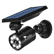 Solar Lights Outdoor Motion Sensor,1400-Lumens Bright LED Spotlight 5W(110W Equiv.)DrawGreen Solar Lights Outdoor Wireless Security Lighting for Porch Patio Garden,Aluminum Solar Powered Lights(Black)