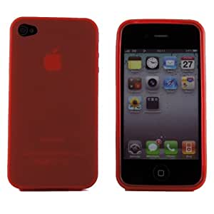 Boho Tronics ® TPU Premium Silicone Rubber Cover Case Smooth Gel Skin - Compatible With Apple iPhone 4 4S - Orange