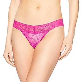 Calvin Klein Women's Bare Lace Thong, Bowie, S