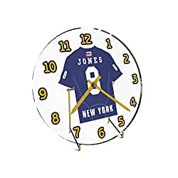 Daniel Jones 8 New York Giants Desktop Clock - National Football League Legends Edition !! Blue
