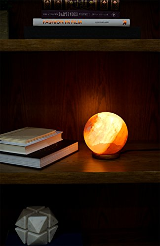 Natural Himalayan Salt Lamp Globe Hand Crafted Sphere by Ambient Authentic Natural Crystal Salt Rock with UL Listed Dimmer Switch by Ambient Salt Lamp (Image #2)