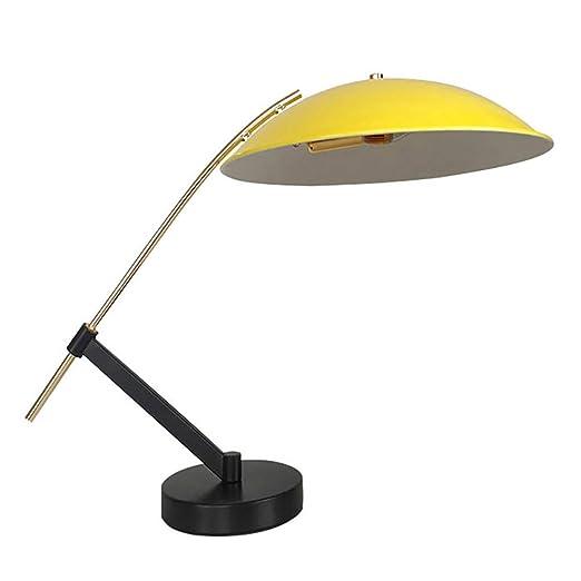 Lámpara de Mesa Amarilla Simple posmoderna Moda Creativa ...