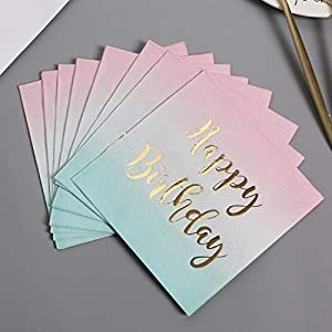 Free Happy Birthday Napkins 100 counts 3 Ply Pink to...