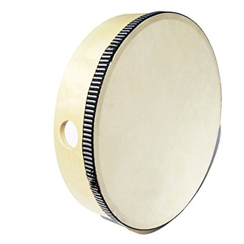 ULTNICE 8inch Wooden Birch Hand Held Tambourine Drum Percussion Musical Drum