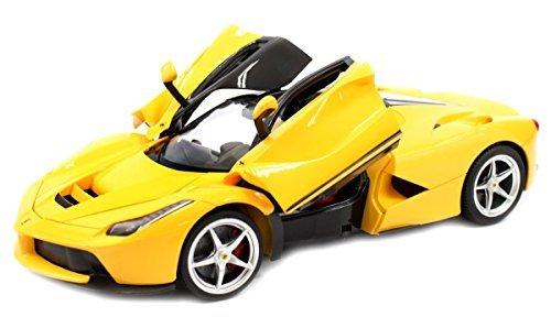 Ferrari La Ferrari RC Car Officially Licensed Replica Model Remote Control Vehicle 1/14 Scale (YELLOW)