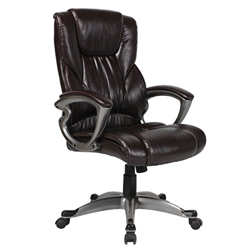 Ultimate Leather Executive Chair (YAMASORO Ergonomic PU Leather Executive Office Desk Chair High-Back Computer Gaming with Back Support (Dark brown))