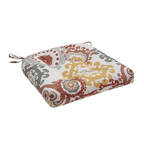Laguna Outdoor Pillow (Laguna Printed Medallion 3M Scotchgard Outdoor Seat Cushion Coral)